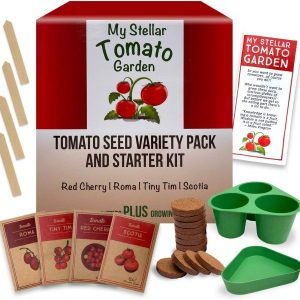 Tomato Seeds Variety Pack and Garden Starter Kit - for Planting in Canada