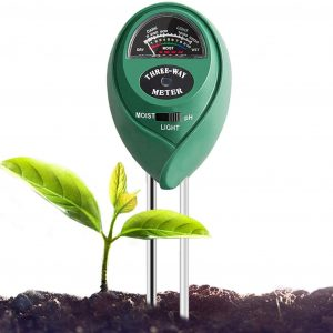 Soil Tester 3-in-1 Plant Moisture Meter Light and PH Tester for Home, Garden