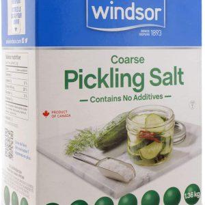 Windsor Pickling Salt Front View of Box