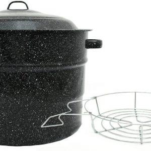 Granite Ware 0707-1 21-1/2-Quart Steel/Porcelain Water-Bath Canner with Rack
