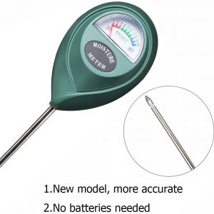 Soil Moisture Sensor Meter - Soil Water Monitor, Hydrometer for Gardening Batteries Required close up picture