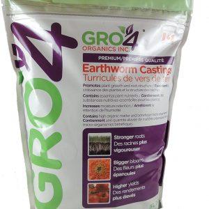 Gro4 Organics Premium Earthworm Castings 5L Recloseable Bag
